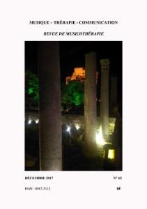 Parution de la Revue de Musicothérapie / Musique Thérapie Communication n°62